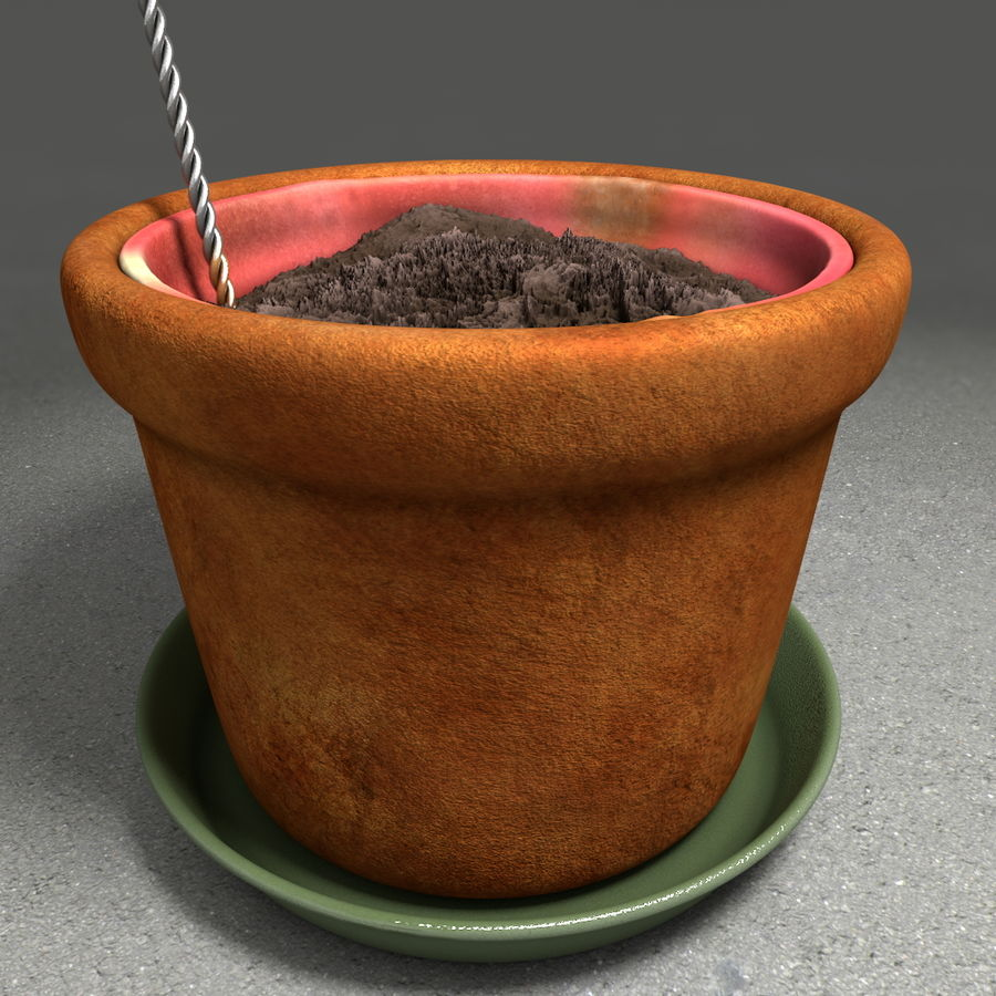 Pot de plante de poterie de jardin de fleur royalty-free 3d model - Preview no. 18