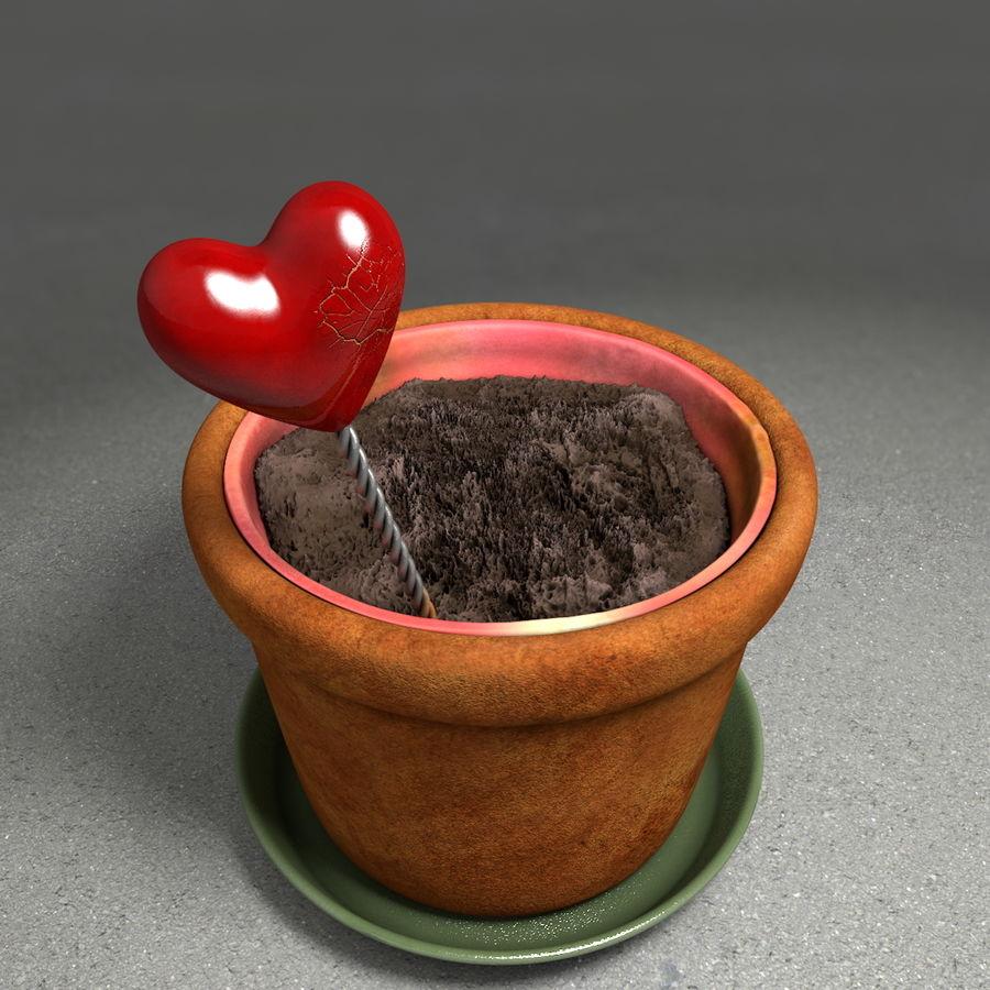 Pot de plante de poterie de jardin de fleur royalty-free 3d model - Preview no. 9