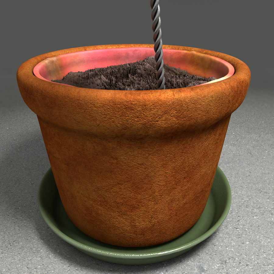 Flower Garden Pottery Plant Pot royalty-free 3d model - Preview no. 21