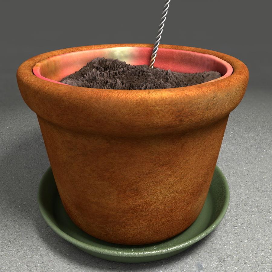 Pot de plante de poterie de jardin de fleur royalty-free 3d model - Preview no. 15