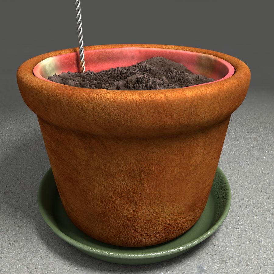 Pot de plante de poterie de jardin de fleur royalty-free 3d model - Preview no. 17