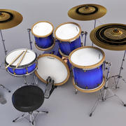 Drum Set Mintor 3d model