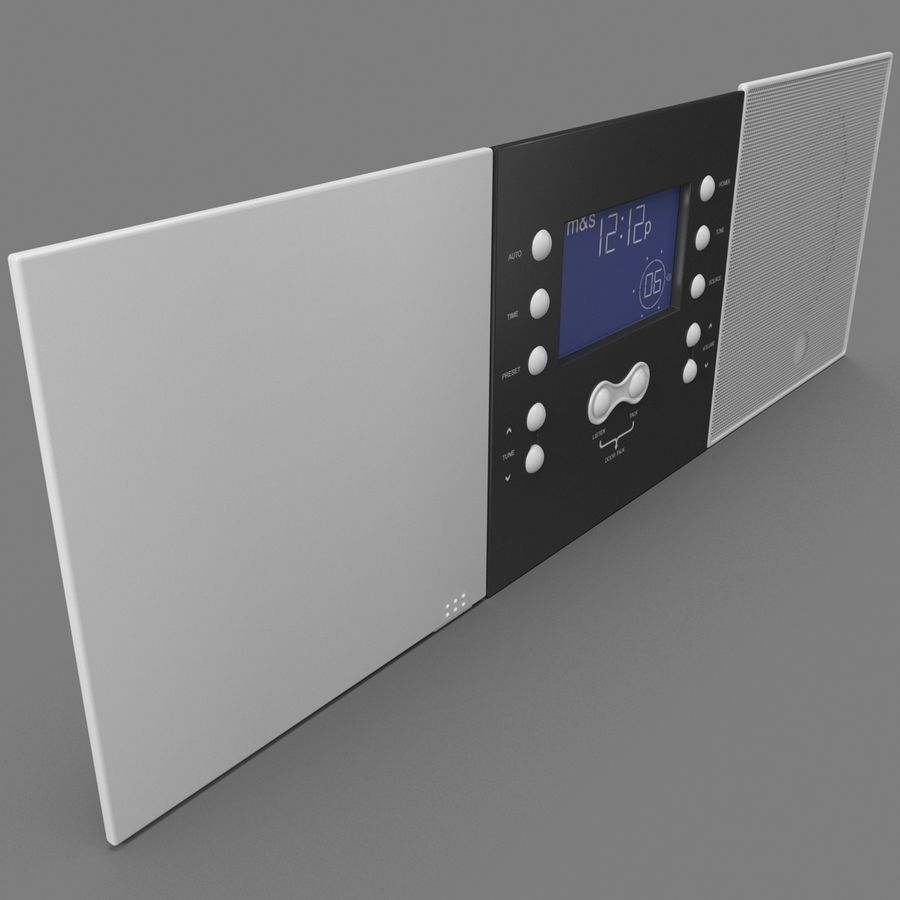 Indoor Intercom royalty-free 3d model - Preview no. 3