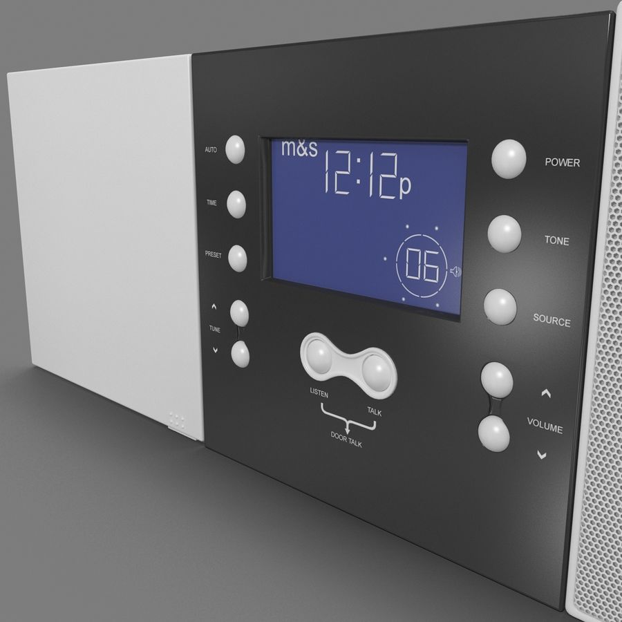 Indoor Intercom royalty-free 3d model - Preview no. 6