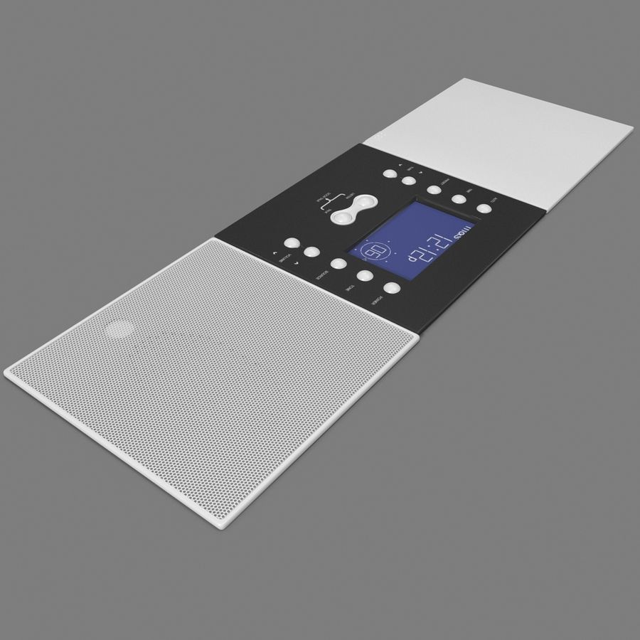 Indoor Intercom royalty-free 3d model - Preview no. 9