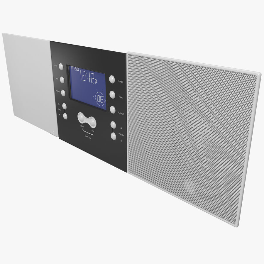 Indoor Intercom royalty-free 3d model - Preview no. 1
