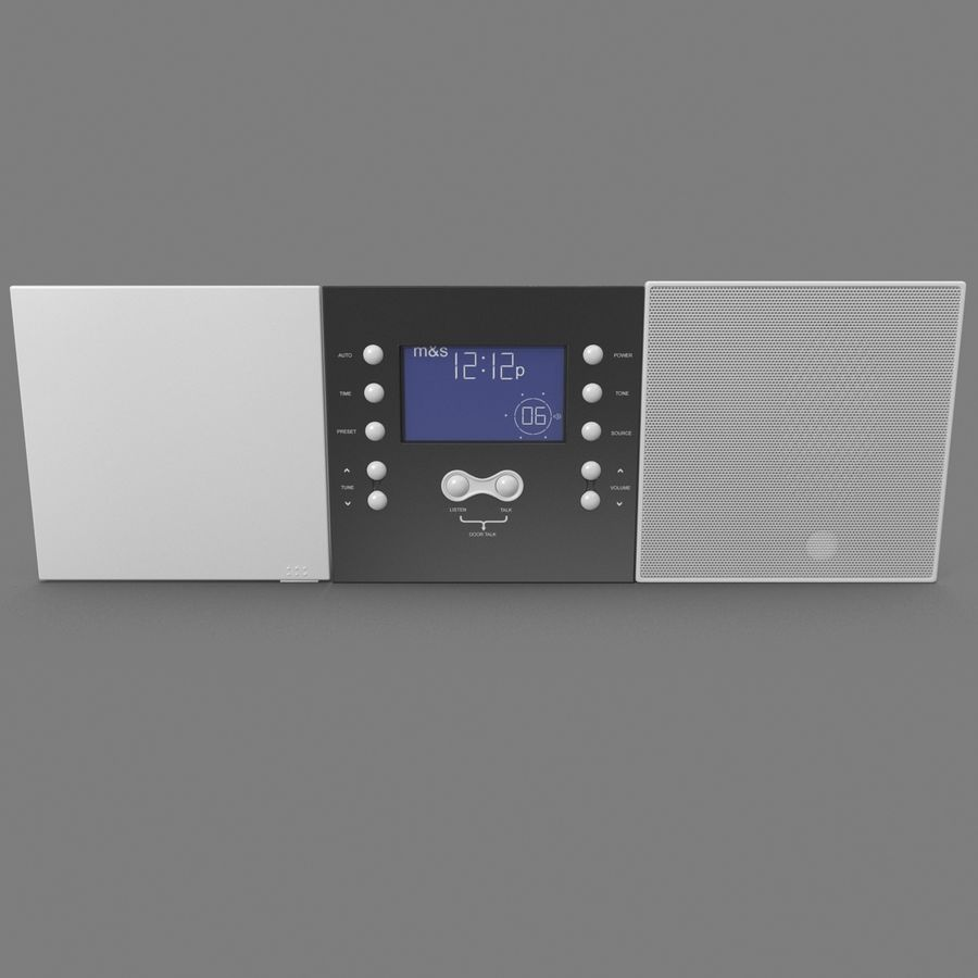 Indoor Intercom royalty-free 3d model - Preview no. 4