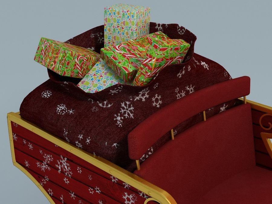 Slitta di Babbo Natale royalty-free 3d model - Preview no. 3