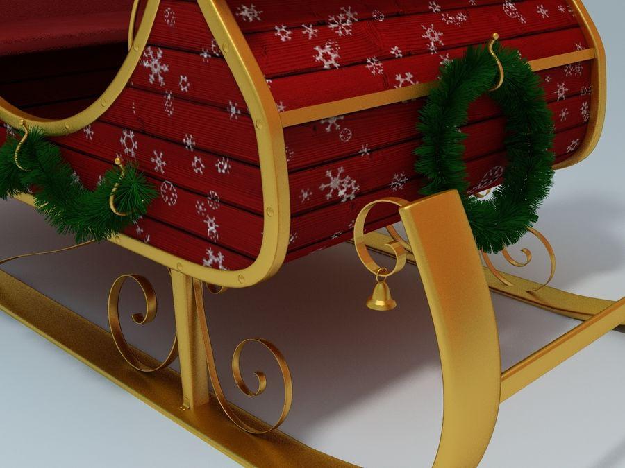 Slitta di Babbo Natale royalty-free 3d model - Preview no. 2