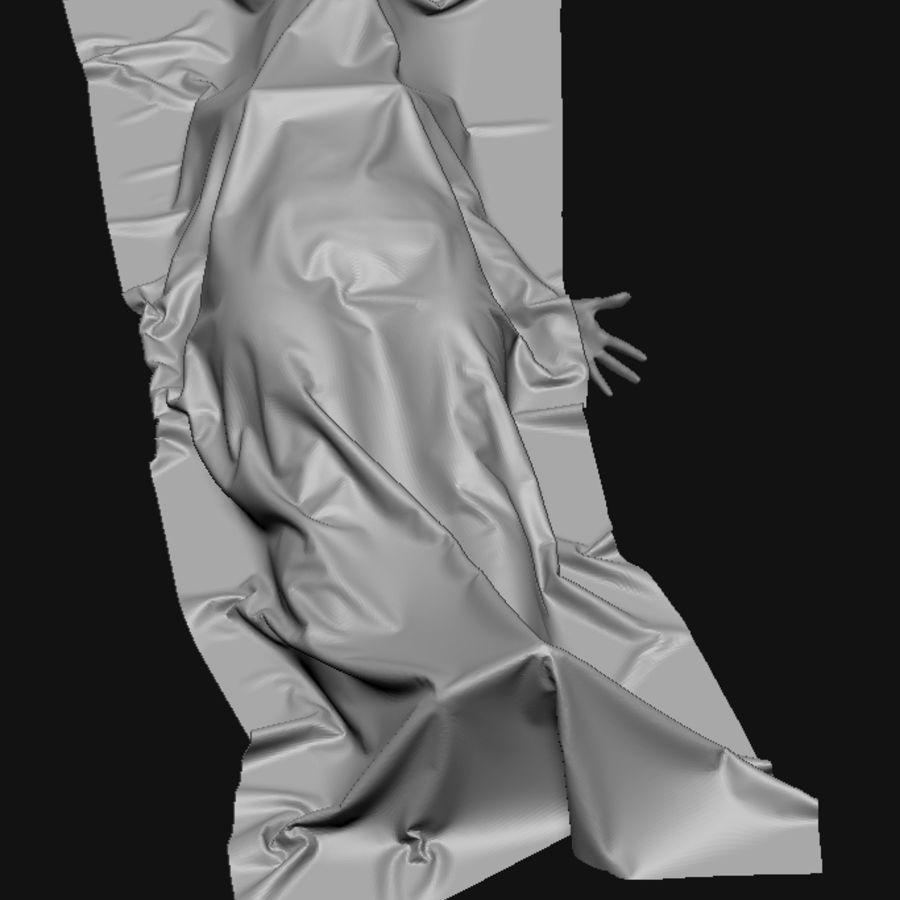 Corpo morto feminino no chão royalty-free 3d model - Preview no. 3