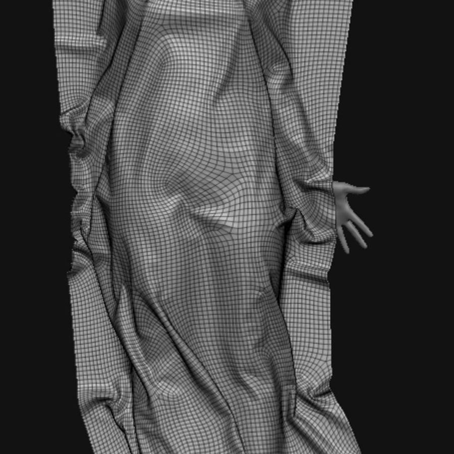 Corpo morto feminino no chão royalty-free 3d model - Preview no. 5