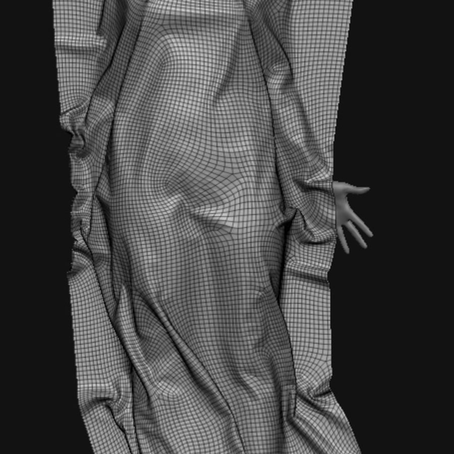 Cadavre, femme, corps royalty-free 3d model - Preview no. 5