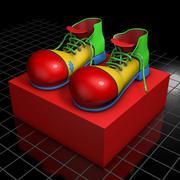 Clown Shoes 3d model