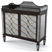 John Richard RosewoodEglomise Bar Cabinet 3d model