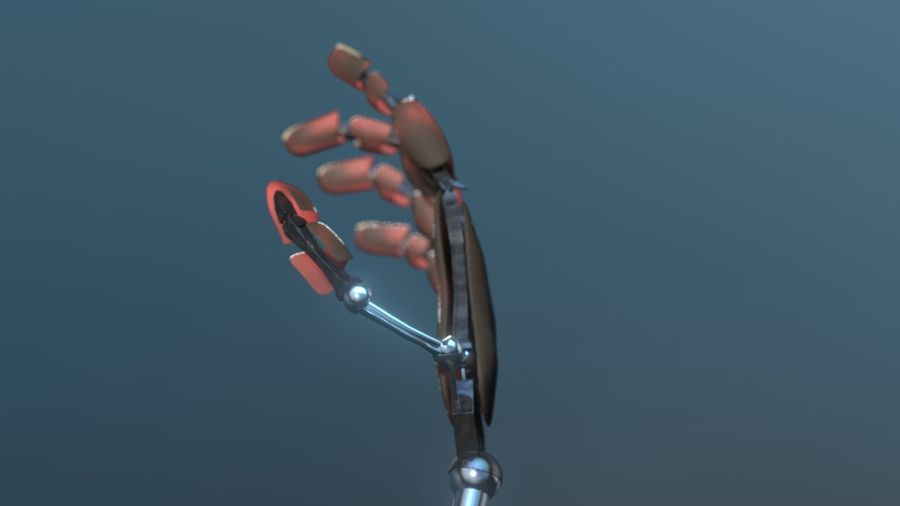 Android Hand royalty-free 3d model - Preview no. 6