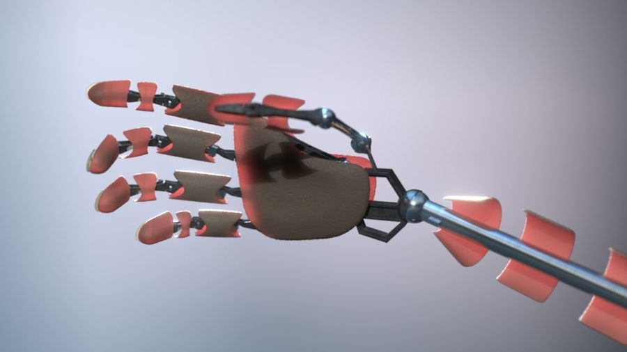 Android Hand royalty-free 3d model - Preview no. 7