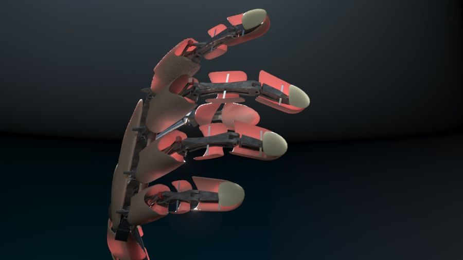 Android Hand royalty-free 3d model - Preview no. 3
