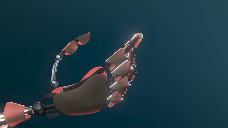 Android Hand royalty-free 3d model - Preview no. 5
