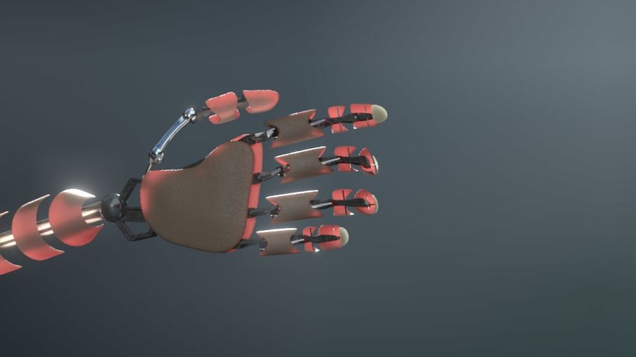 Android Hand royalty-free 3d model - Preview no. 4