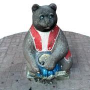Scultura di un orso 3d model