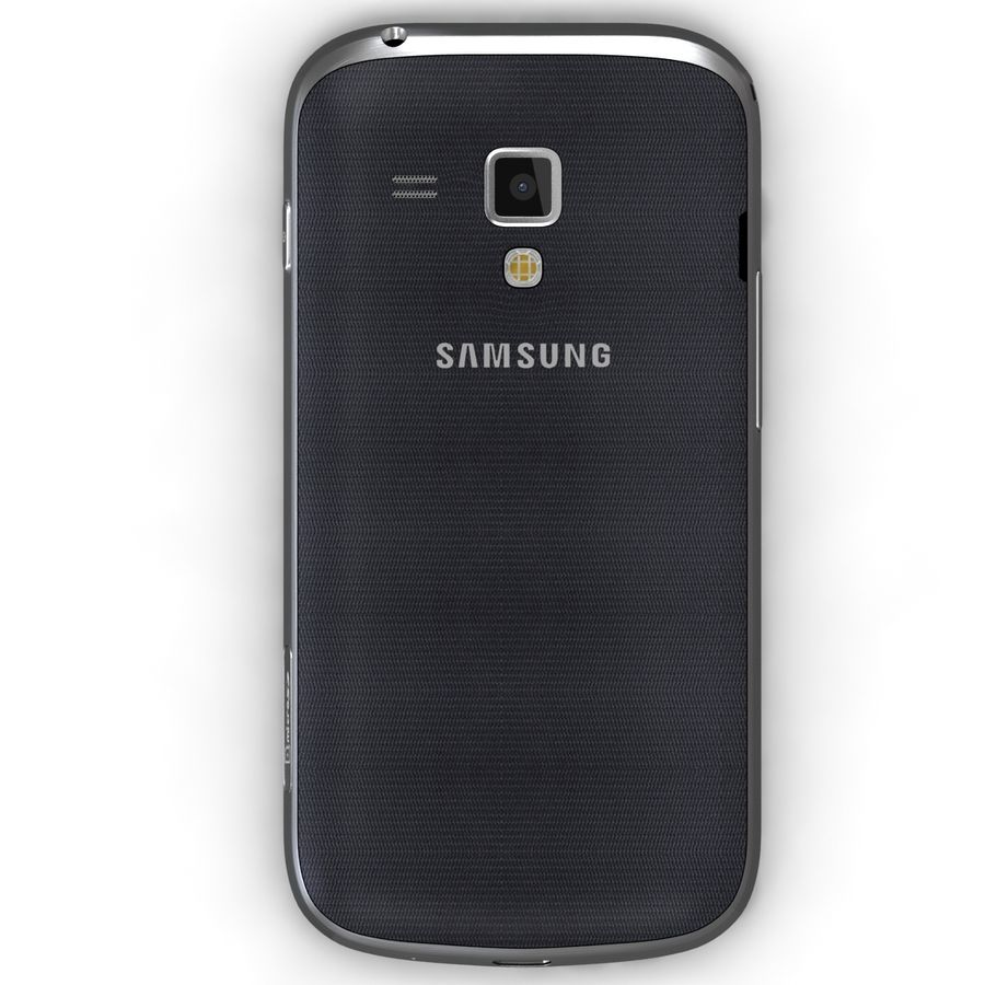 Samsung Galaxy S Duos 2 Black royalty-free 3d model - Preview no. 6