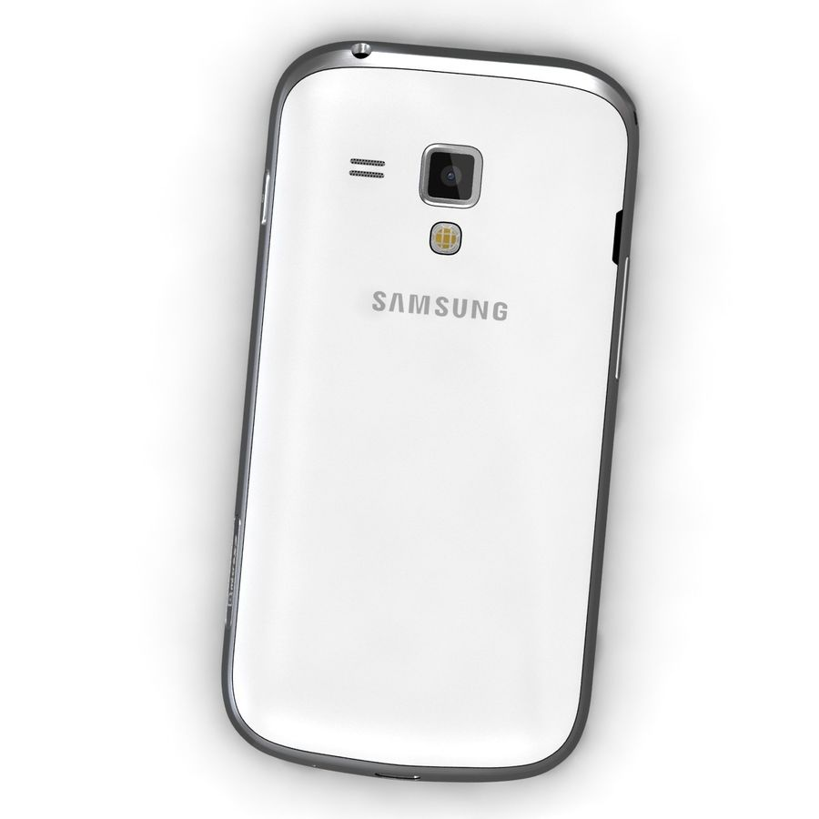 Samsung Galaxy S Duos 2 White royalty-free 3d model - Preview no. 5