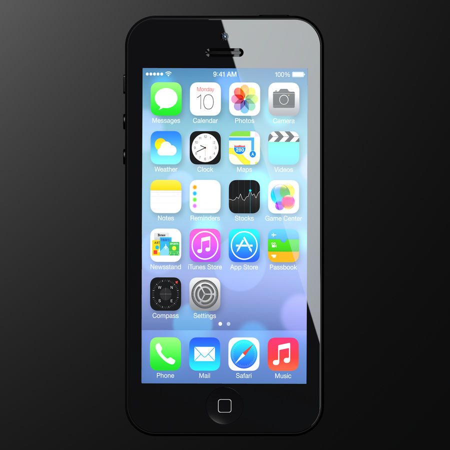iPhone5_AR royalty-free 3d model - Preview no. 1