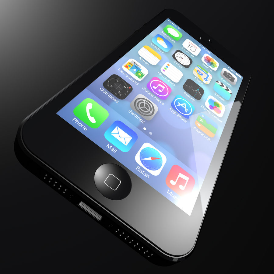iPhone5_AR royalty-free 3d model - Preview no. 5
