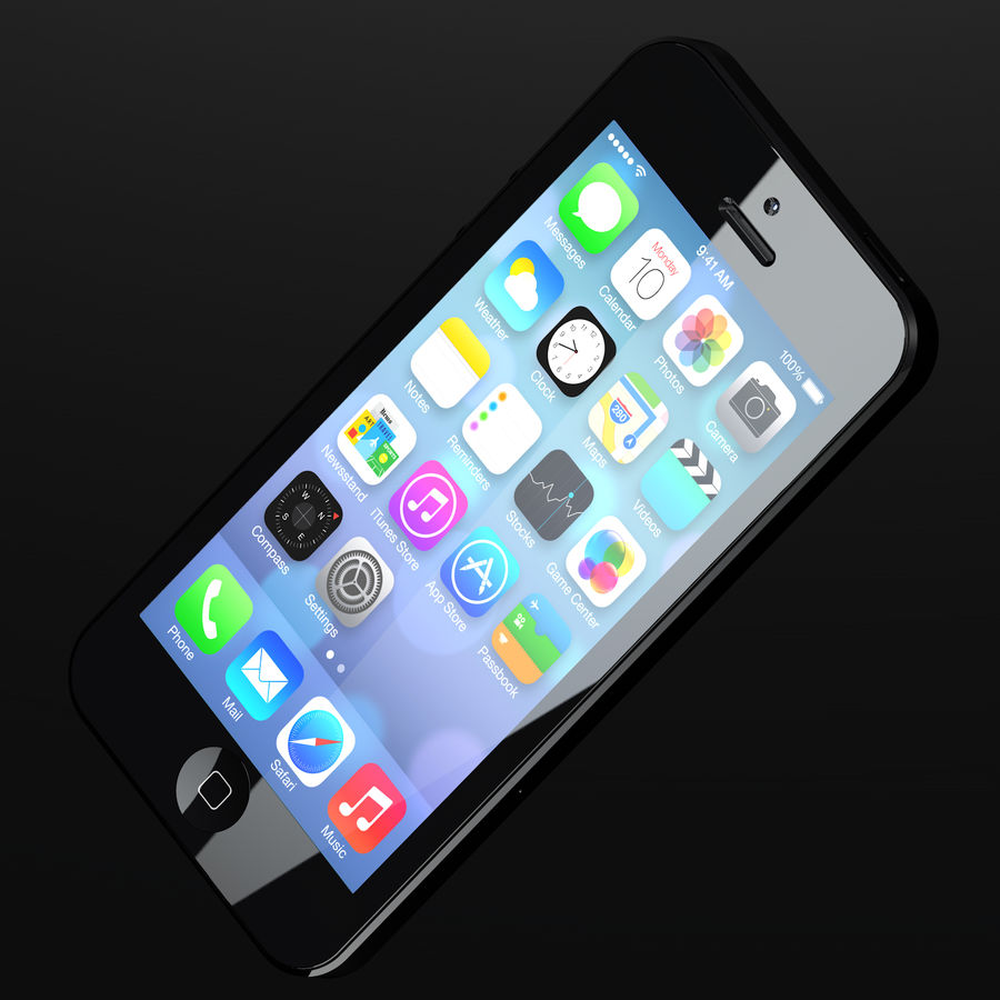 iPhone5_AR royalty-free 3d model - Preview no. 4