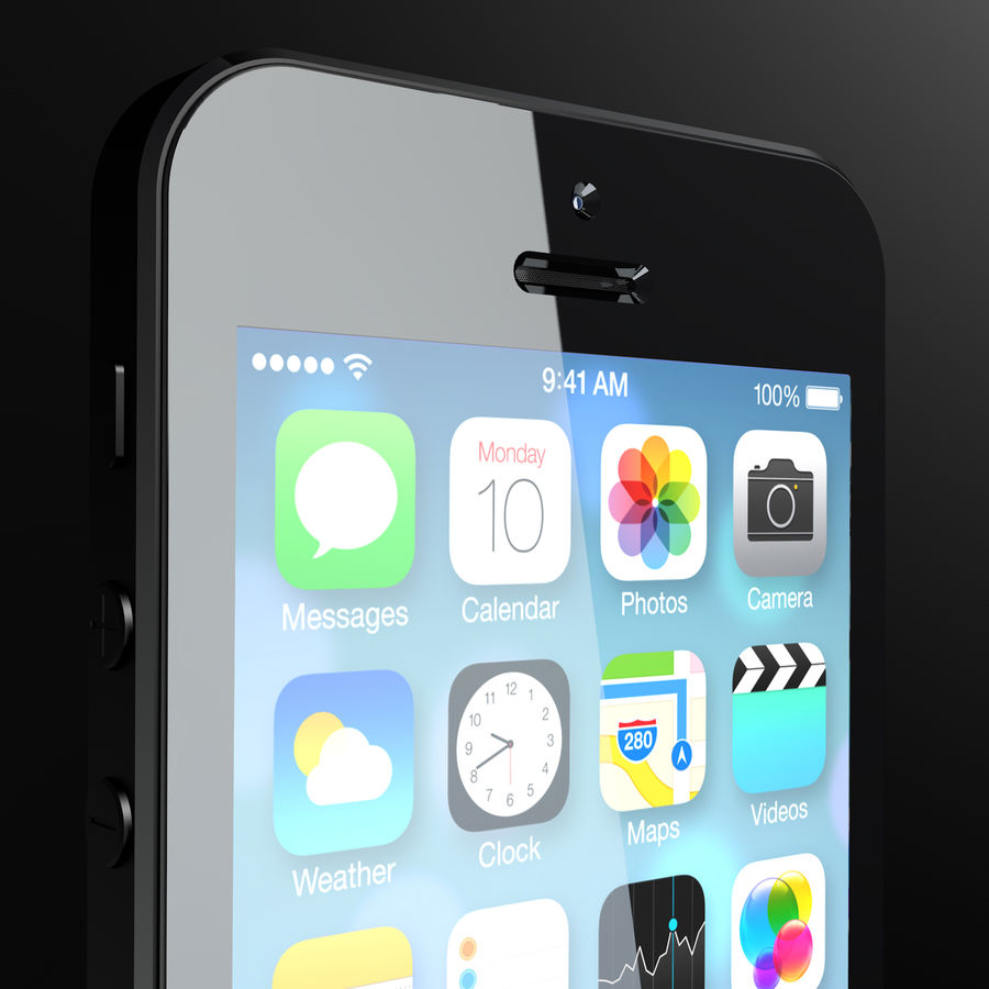 iPhone5_AR royalty-free 3d model - Preview no. 3