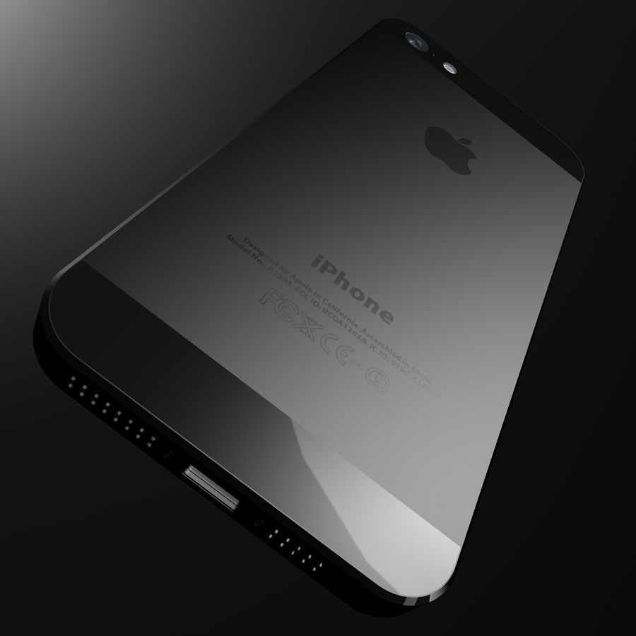 iPhone5_AR royalty-free 3d model - Preview no. 9