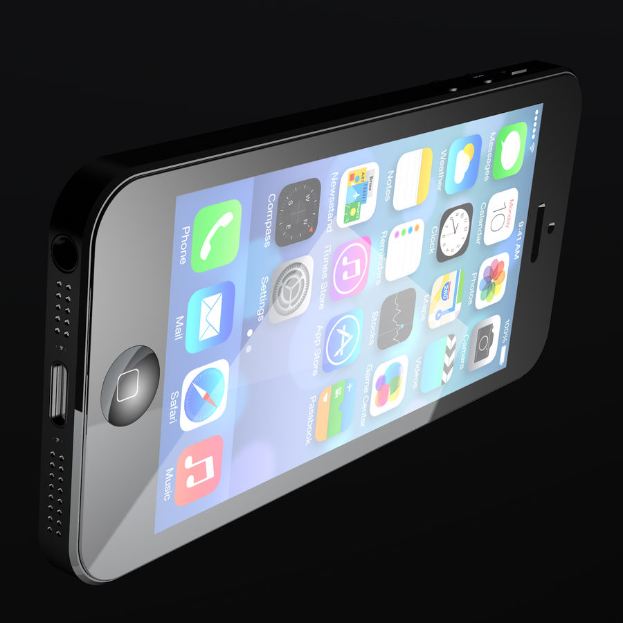 iPhone5_AR royalty-free 3d model - Preview no. 6