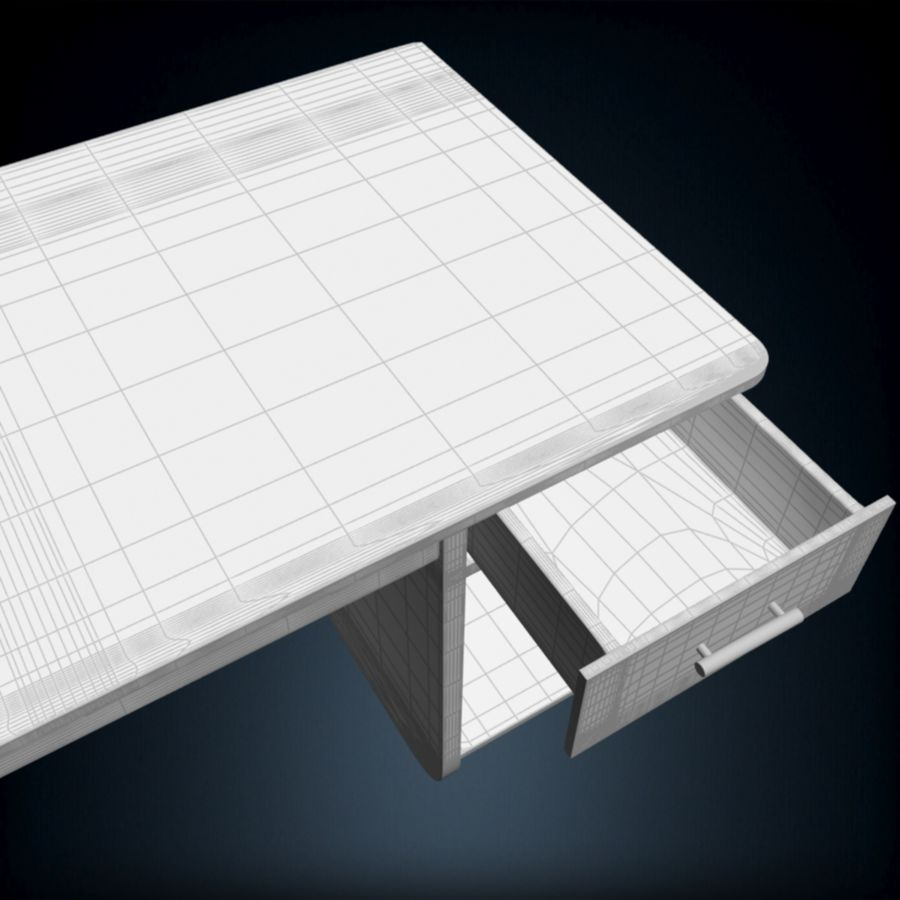 Tavolo per computer royalty-free 3d model - Preview no. 10