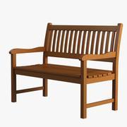 Garden Bench 008 3d model