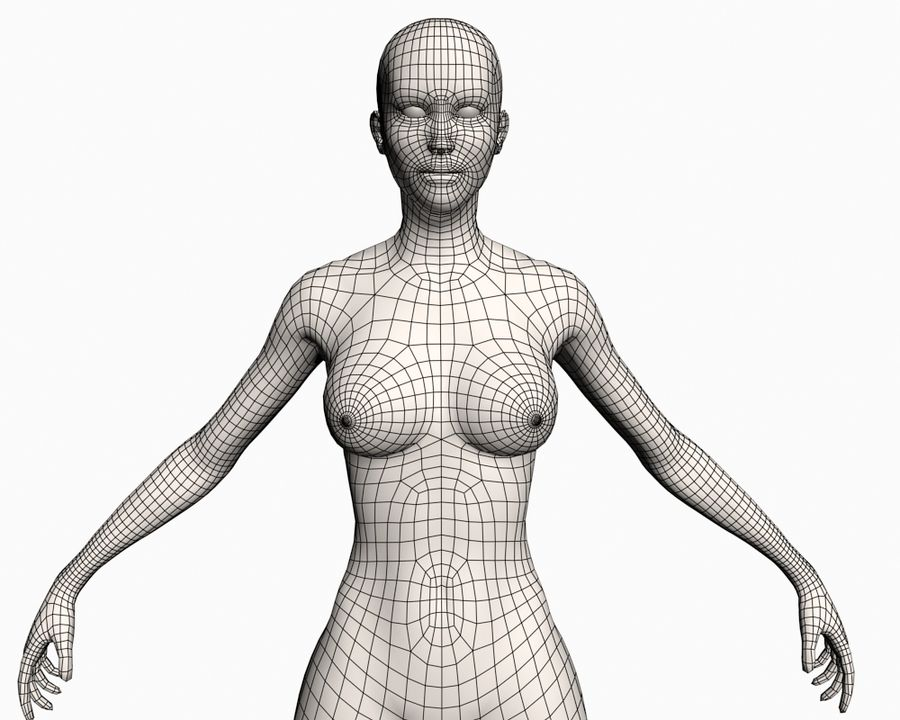 Basic Female royalty-free 3d model - Preview no. 10