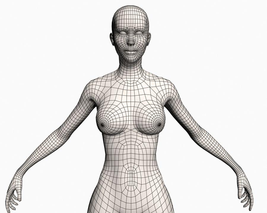 Grundläggande kvinnlig royalty-free 3d model - Preview no. 10