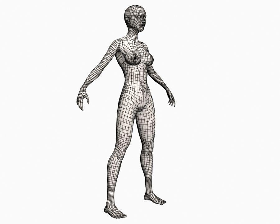 Grundläggande kvinnlig royalty-free 3d model - Preview no. 7