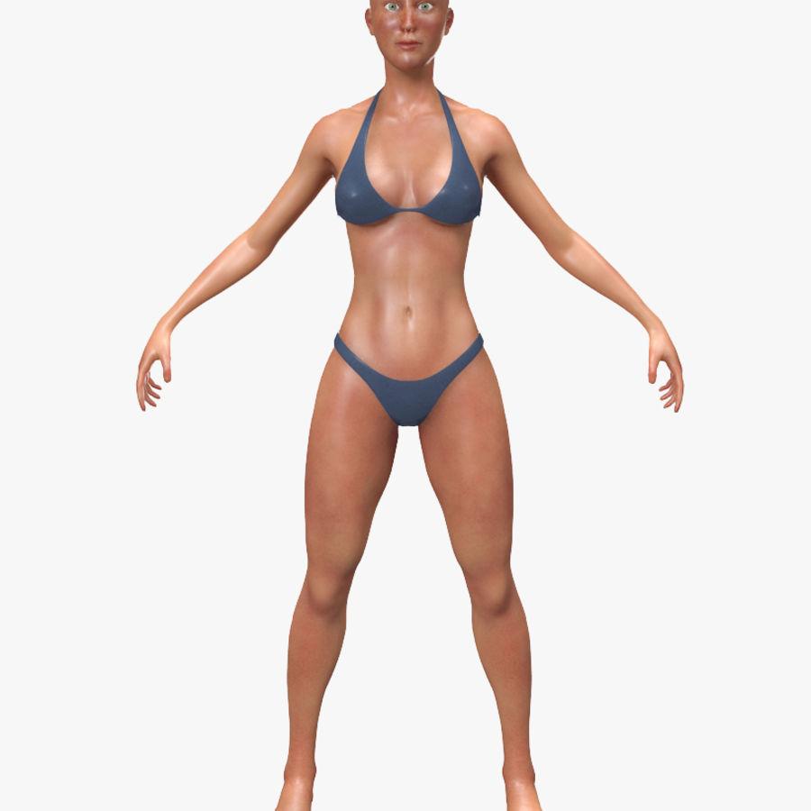 Grundläggande kvinnlig royalty-free 3d model - Preview no. 1