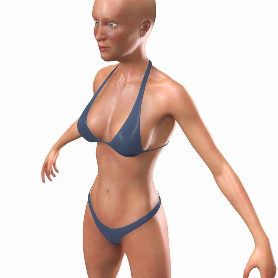 Grundläggande kvinnlig royalty-free 3d model - Preview no. 4