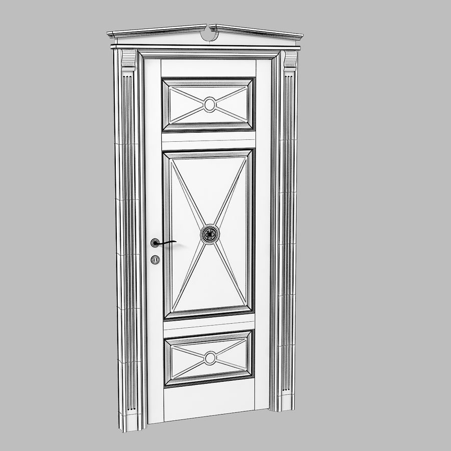 Union Deco Classic Door royalty-free 3d model - Preview no. 4