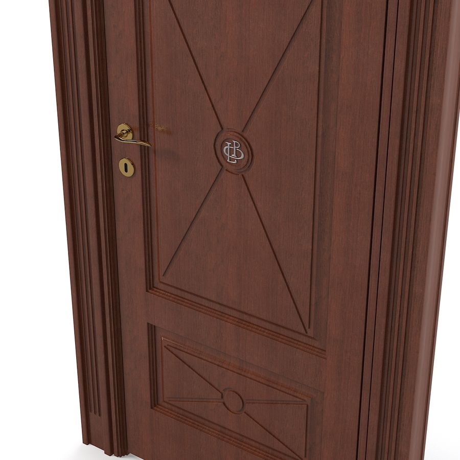 Union Deco Classic Door royalty-free 3d model - Preview no. 3