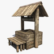 Old Wooden Well 3d model