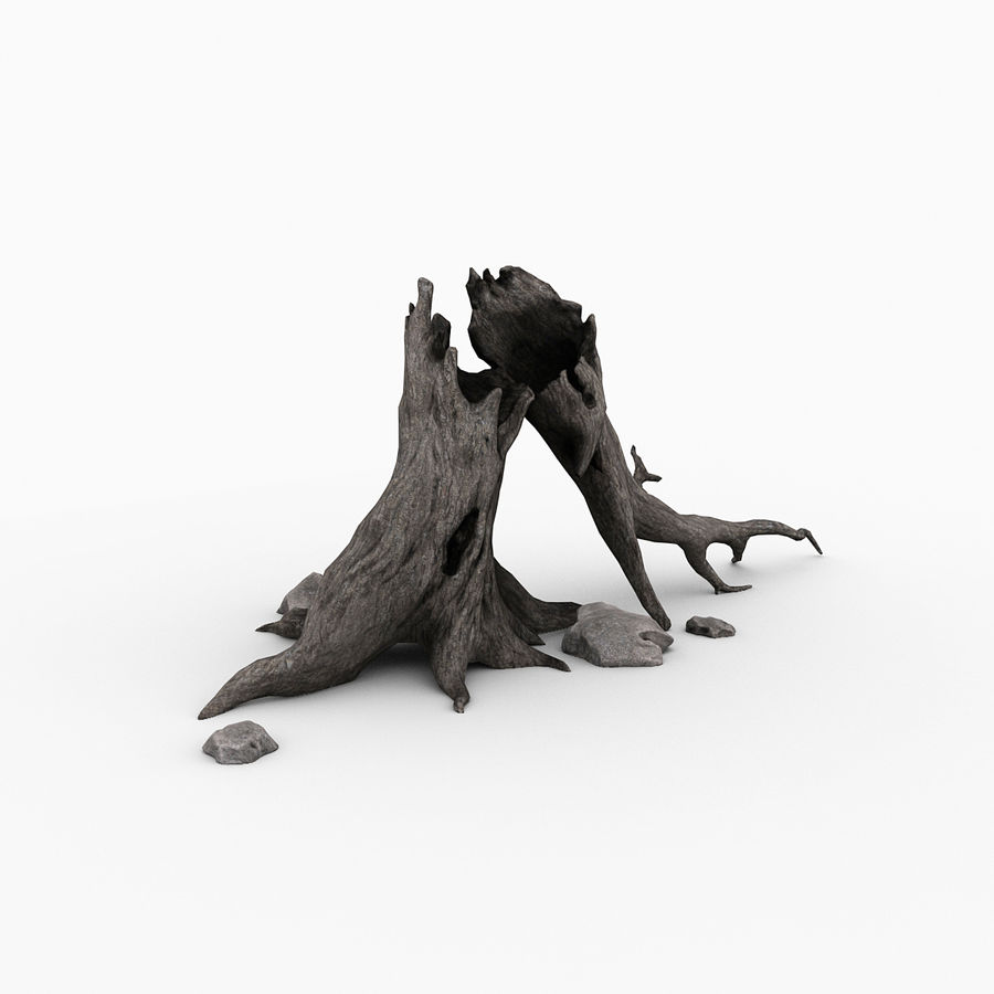 Dead tree royalty-free 3d model - Preview no. 8