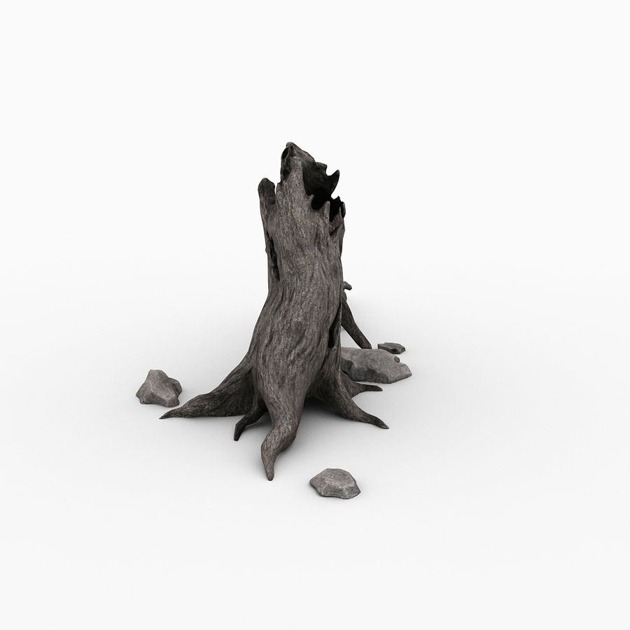Dead tree royalty-free 3d model - Preview no. 7