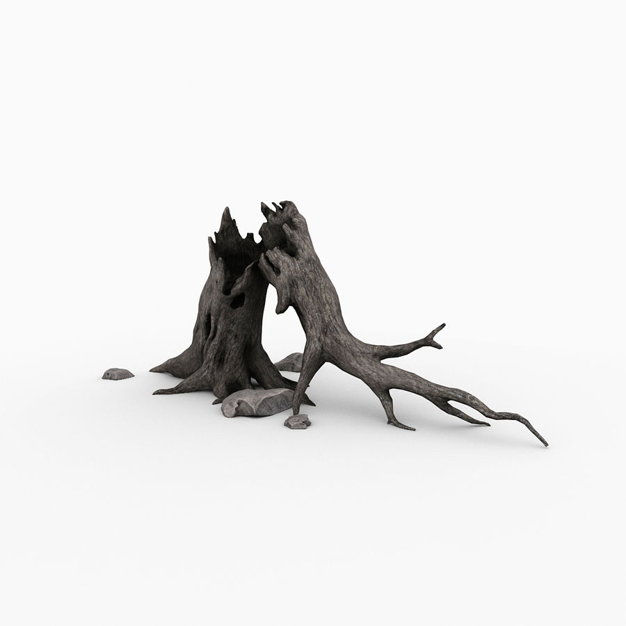 Dead tree royalty-free 3d model - Preview no. 2