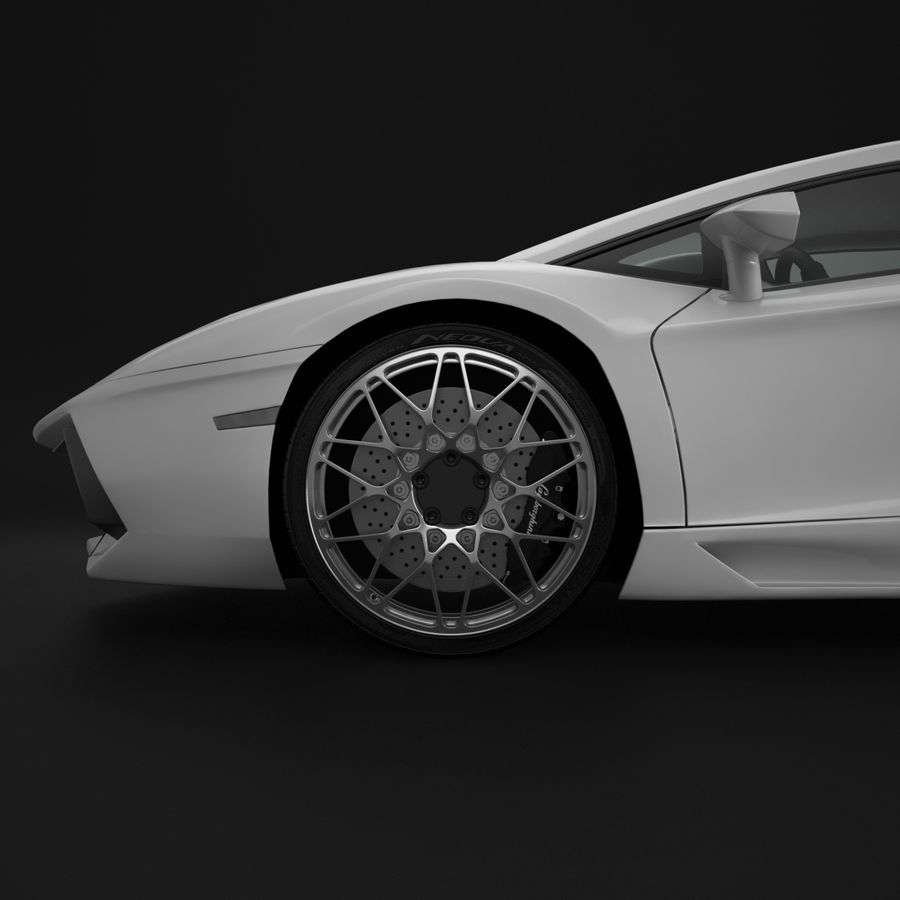 Cerchio Sportscar 01 royalty-free 3d model - Preview no. 4