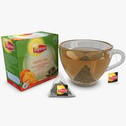 Chá Verde Mandarina Sabor 3d model