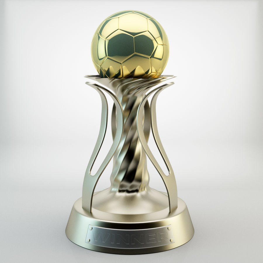 Trophy Cup royalty-free 3d model - Preview no. 2