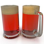 Cerveza en la taza modelo 3d