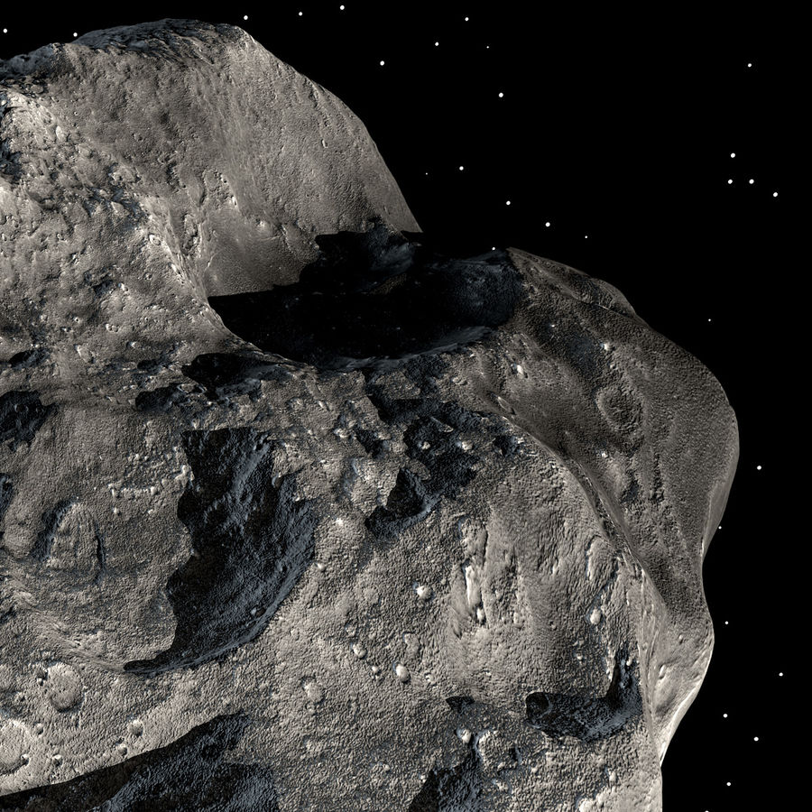 Asteroide royalty-free 3d model - Preview no. 11